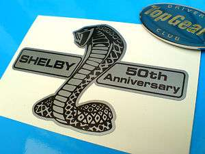SHELBY 50th ANNIVERSARY Silver AC Cobra Sticker Decal 1 off 100mm