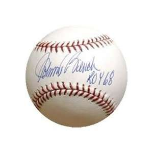 Johnny Bench autographed Baseball inscribed ROY 68: Sports