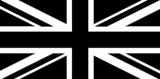 BLACK & WHITE UNION JACK FLAG 3X2 ENGLAND BRITAIN UK