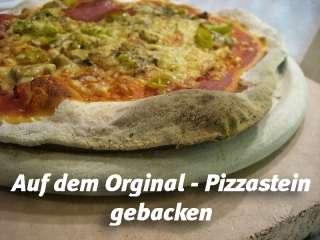 Original Pizzastein, Brotbackstein, Pizzaofen Schamotte