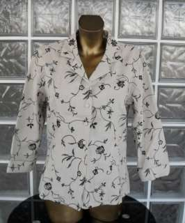 ANNE CARSON Mid Sleeve Summer Linen Jacket Size 12 14