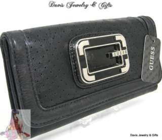Guess G Logo Checkbook Wallet Evelyn Slg Purse Bag NWT