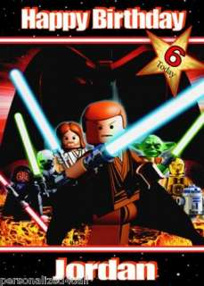 LEGO STAR WARS Personalised BIRTHDAY CARD Large A5 Ref2