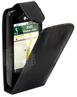 Black Flip Leather Case Cover For LG Optimus One P500