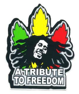 Bob Marley Rasta A Tribute To Freedom Decal Sticker O92
