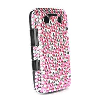 Coque arrière en strass Blackberry Bold 9700/9780   Bulles rose