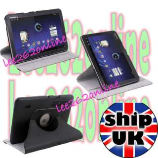 Leather Stand Case Cover For Motorola Xoom Tablet 10.1  Black