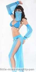 Sexy Aladdin Arabian Belly Dancer Fancy Dress Outfit