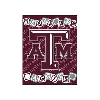 Texas A&M Aggies 36x48 Baby Blanket / Throw: Sports