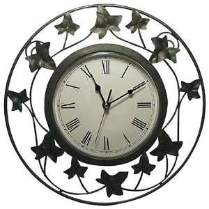 Ingraham Cottage Ivy Round Clock Home & Kitchen