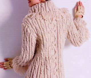Aran Vest Knitting Pattern : Circle Vest Aran Weight Knitting Pattern Jenn Wisbeck