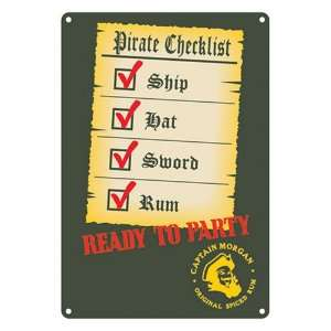 Licensed Captain Morgan Party Beer Bar Metal Sign Decor