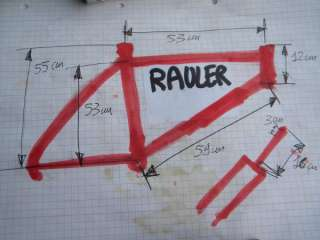 RAULER VINTAGE ITALIAN ROAD BIKE FRAME & FORK INTERNAL WIRES COLUMBUS