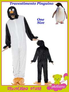 Costume Carnevale Adulto Animale Pinguino # 0243 Travestimento Costumi