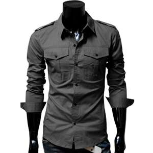 Designer Slim fit Pocket Tailored Casual Point Neck Collar Basic Shirt