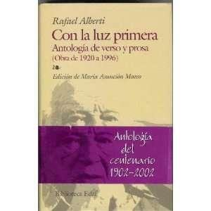 Con La Luz Primera antologia De Verso P. (Biblioteca Edaf