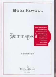 DAROK EDITION Kovacs bela   hommages   clarinette   Bois   Clarinette