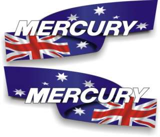 Custom Aus Mercury 850mm outboard boat decals graphics