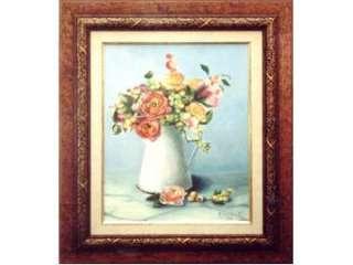 Cuadro, pintura al óleo de un jarrón de flores (11512507)