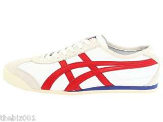 ASICS SHOES ONITSUKA TIGER MEXICO 66 WHITE / RED SIZE 6
