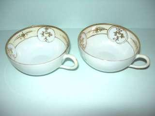TWO VINTAGE HANDPAINTED GOLD AND YELLOW NIPPON CUPS !!!