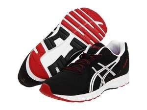 ASICS Rush 33 Mens High Performance Running Shoes Black White Red