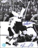 Signed Paul Henderson Photograph   vs VLAD TRETIAK Dual 11x14