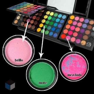 180 Color Paleta de Sombra de Ojos Mate/Brillo+Espejo