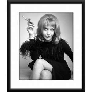 Nyree Dawn Porter Framed And Matted 8x10 B&W Photo:  Home