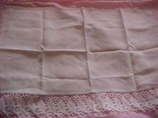 VINTAGE IRISH LINEN LACE PIE SAFE, BUFFET RUNNERS