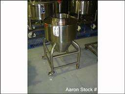 USED Tank, 25 gallon, stainless steel, vertical. 21 d