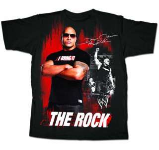 The ROCK I Bring It Unleashed WWE Authentic T shirt
