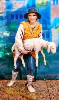 1218 Pastore con pecora Landi 12cm Presepe Pastori