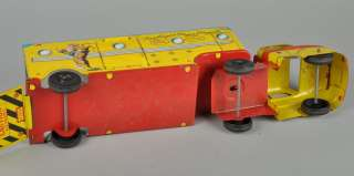 VTG 1950s MARX Roy Rogers Trigger Tin Litho Toy Horse Trailer Semi