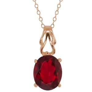 30 Ct Oval Ruby Red Mystic Quartz 18k Rose Gold Pendant Jewelry