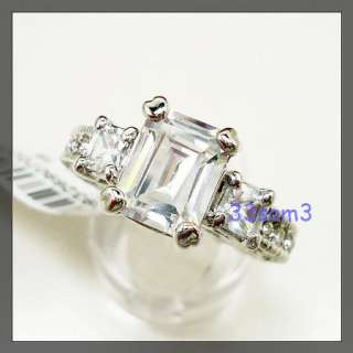 This Auction is for 18KT WHITE GOLD PLATED SQUARE CUT 2CT PRINCESS