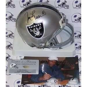Tim Brown Autographed/Hand Signed Oakland Raiders Mini Helmet