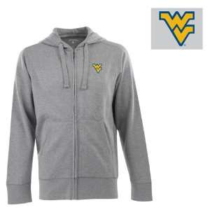 West Virginia Signature Full Zip Hooded Sweatshirt (Grey)