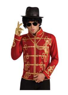 Michael Jackson Red Military Jacket  Cheap 80s Halloween Costume for