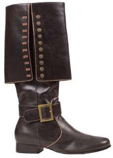 Mens Deluxe Black Pirate Boots   Pirate Costume Accessories