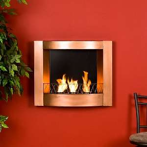 Wall Mount Gel Fuel Fireplace   Copper