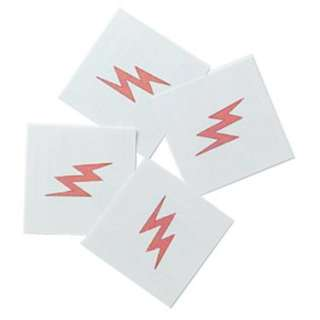Halloween Costumes Lightning Bolt Tattoos (8 count)