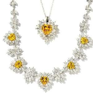 Somers 121.28ct CZ Movie Star 3 piece Necklace Set
