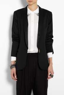 By Malene Birger  Black Azemina Camelia Wool Single Button Jacket by