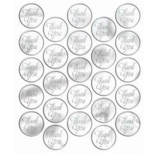 silver thank you sticker seals 50 count regular $ 5 99 price $ 4