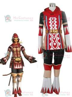 Final Fantasy XI 11 White Mage Cosplay Costume  FF White Mage Cosplay