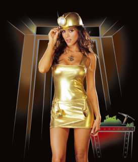 Adult Sexy Gold Digger Costume   Sexy gold miner Halloween costume