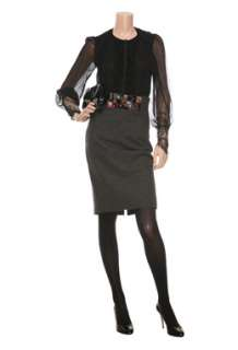 Grey High Waisted Skirt by Paul Smith Black   Grey   Buy Skirts Online