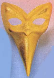 CARNIVAL GOLD BIG NOSE MASK M73122 MADE IN ITALY Pointy Nose