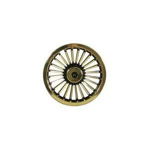 Turbine Style Wheel Cover, Black and Gold, 8 Sports
